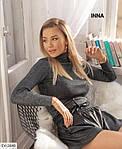 Жіночі шкіряні шорти зі шнурком, фото 4