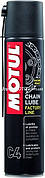 Смазка для цепей дорожных спортивных мотоциклов MOTUL C4 Chain Lube Factory Line (400ML) Франция
