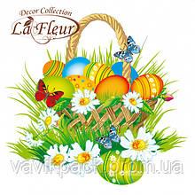 Салфетки столовые La Fleur двухслойные 33х33 cм 20 шт Цветочная корзинка