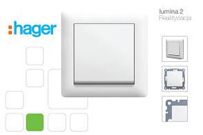 Lumina-2 (белый) Hager