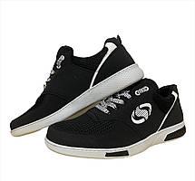 Кросівки чоловічі літні чорні 40 розмір, фото 3