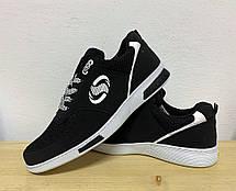Кросівки чоловічі літні чорні 40 розмір, фото 2