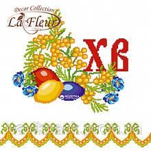 Салфетки столовые La Fleur двухслойные 33х33 cм 20 шт Пасхальная вышивка
