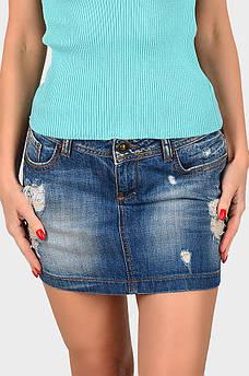 Юбка джинсовая подросток синяя AAA 129063S