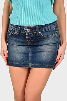 Юбка джинсовая подросток синяя AAA 129067S