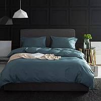 Комплект постельного белья Bella Villa сатин Евро морская волна