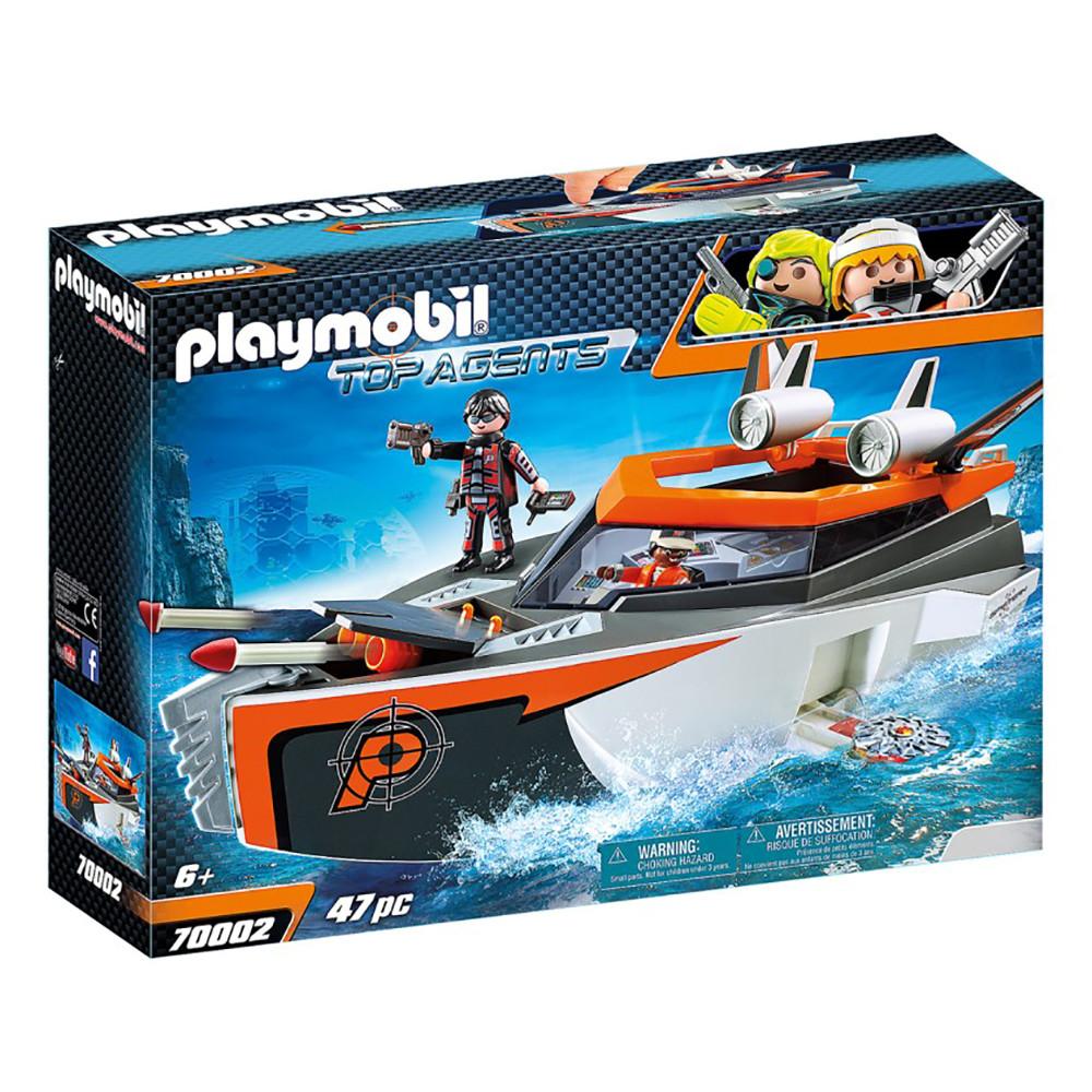 """Ігровий набір """"Шпигунський моторний човен"""" Playmobil (4008789700025)"""