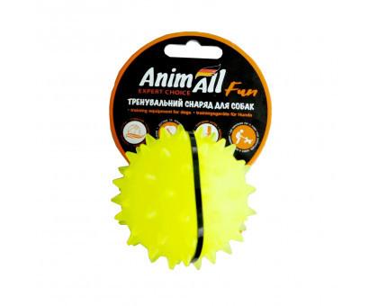 Іграшка AnimAll Fun м'яч-каштан, жовтий, 5 см