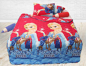 Стеганное покрывало (одеяло летнее) детское Frozen Fever