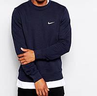 Темно-синий Свитшот Найк однотонный реглан Nike