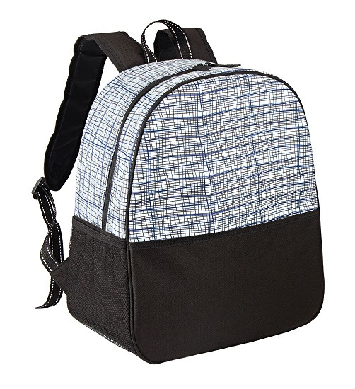 Изотермическая сумка-рюкзак TE-3025, 25 л, белый принт полоска