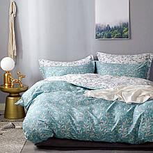 Комплект постельного белья Bella Villa сатин Евро бирюзовый