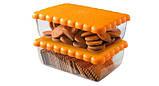 Контейнер Snips для зберігання солодощів, печива, випічки 2.7 л, Помаранчевий, фото 2