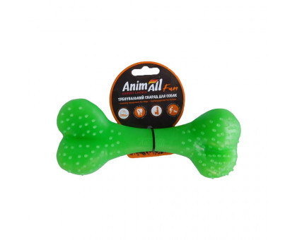 Игрушка AnimAll Fun кость 88125, зелёная, 15 см