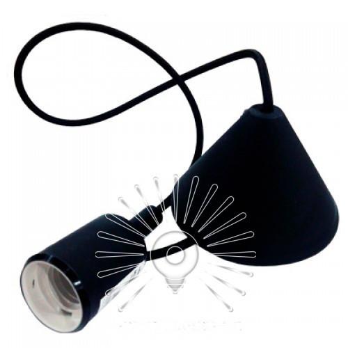 """Подвес пластиковый """"V-образный"""" + E27 чёрный 1м  для LED ламп  Lemanso"""