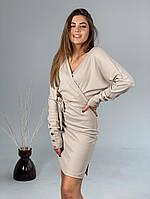 Жіноче стильне міні плаття з V-подібним декольте