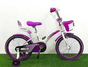 """Дитячий велосипед Crosser Kids Bike 18"""" фіолетовий"""