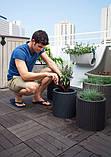 Набір горщиків для квітів Циліндр Planter Set, сірий, фото 4