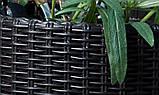 Набір горщиків для квітів Циліндр Planter Set, сірий, фото 5