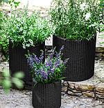 Набір горщиків для квітів Циліндр Planter Set, сірий, фото 6
