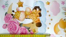 """Декоративные наклейки для детского сада, в детскую на стены """"котята в воздушном шаре """" 55*80см (лист50*70см), фото 2"""