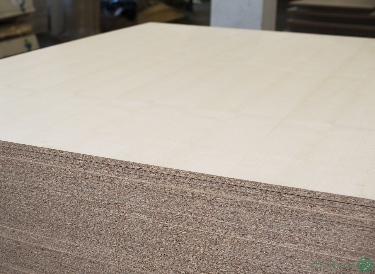 ДСП шпонована плита Білим Ясеном 19 мм Асом/B 2,80х2,07 м тангентал