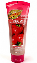 Скраб для лица Wokali Smoothing+Moisturizing Strawberry с экстрактом клубники, 120мл