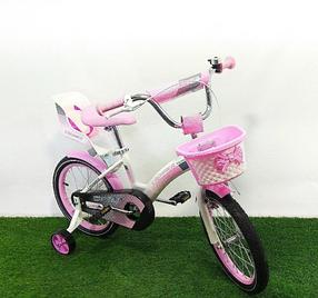 """Дитячий велосипед Crosser Kids Bike 18"""" рожевий"""