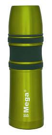 Термос Mega Slim з нержавіючої сталі 1 літр, Зелений