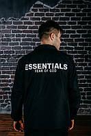 Мужская демисезонная куртка - ветровка Essentials черная