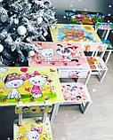 """Комплект стіл і 1 укріплений стілець дитячий """"жовті Котики"""", фото 5"""