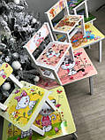 """Комплект стіл і 1 укріплений стілець дитячий """"жовті Котики"""", фото 6"""