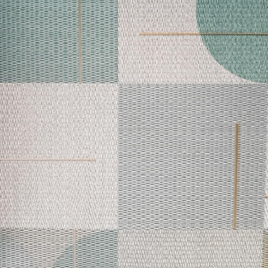 Шпалери вінілові на флізелін Sirpi AltaGamma Home 3 геометричні фігури 3д бірюзові, зелені, сірі