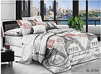 """Евро комплект постельного белья ТМ """"TAG"""" Поликоттон 3D  """"BR-854"""""""