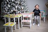 """Комплект стол и 2 укрепленных стула детских """"Кот и собачка"""", фото 5"""