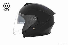 Шлем открытый  VLAND  #703, M, Black mat