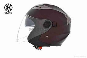 Шлем открытый  VLAND  #708, L, Bronze mat