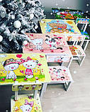 """Комплект стіл і 2 укріплених стільця дитячих """"Ведмедики на пляжі"""", фото 6"""