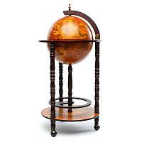 Глобус бар напольный BST 480003 44×44×88 см коричневый Укромное местечко