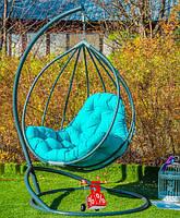 Кресло качели подвесные кокон Амарант Green, подвесные висячие кресла-шар и садовые качели, кресло-каче
