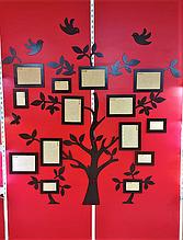 Семейное дерево для фотографий на стену 175×195см. Настенное панно из фотографийв виде семейного дерева