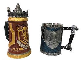 Подарунковий набір Гуртка Game Of Thrones House Lannister і Гуртка King In The North Targaryen 3D Король Півночі