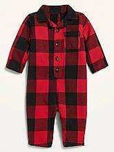 Фланелевый комбинезон для малыша Old Navy пижама (Красный/Черный, размер 58-69)