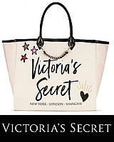 Сумка с вышивкой Victoria's Secret ORIGINAL городская с цепями, шопер женская, подростковая