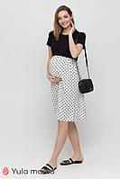 Трикотажное платье с принтом горох для беременных и кормящих Gwinnett DR-21.151 Юла мама