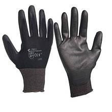 Перчатки нейлоновые с полиуретановым покрытием на ладони Artmaster размер №9 упаковка — 12 пар