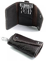 Кожаная ключница 105 Coffee.Купить оптом и в розницу кожаные ключницы.