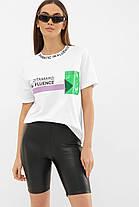 ЖІНОЧА футболка 6047 ФУТБОЛКА VR-Y Розміри S M L, фото 2