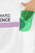 ЖІНОЧА футболка 6047 ФУТБОЛКА VR-Y Розміри S M L, фото 3