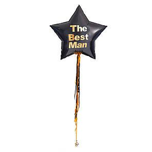 """Большая черная звезда с надписью """"The Вest Man"""", фото 2"""
